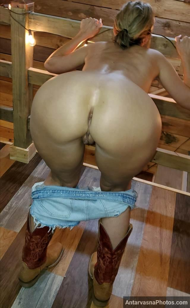 hot bitch removed her shorts to expose huge ass